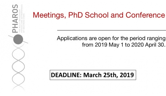 PHAROS Open Call to host Meetings, a PhD School and the Annual Conference